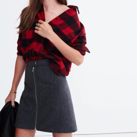 7052767a6c Madewell Skirts | Wool Zip Mini Skirt | Poshmark